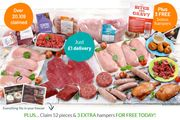Hidden Secret Deal - Buy 1 Super Lean Meat Hamper Get 3 FREE - 50 Meals