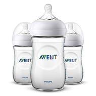 Philips Avent Natural Feeding Bottle 260ml, Pack of 3 SCF033/37