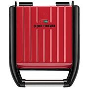 George Foreman Compact 3 Portion Steel Grill (Red) - Better Than HALF PRICE!