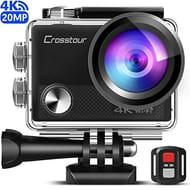 Lightning Deal 7 voucherUpgradedCrosstour 4K 20MP Action Camera WiFi