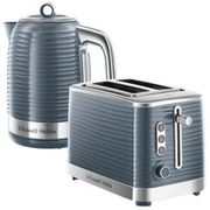 Russell Hobbs Inspire Kettle & 2 Slice Toaster Set Grey