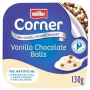 Muller Corner Vanilla Chocoball Yogurt 130g 8 for $2.00