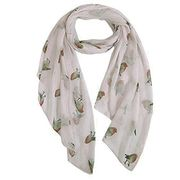 Ladies Women's Fashion Butterfly Print Long Scarves Floral Neck Scarf