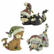 Christmas Lulu Cats Ornament Set of 3