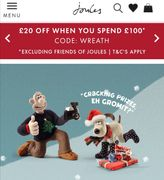 Joules £20 off When You Spend £100