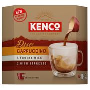 NEW Kenco DUO Cappuccino Instant Coffee 6 X 24g Choice of 3 SEE PICS *HALF PRICE