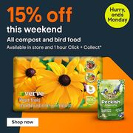 15% off All Compost & Bird Food