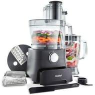 VonShef 1000W Food Processor Blender Chopper Juicer Dough Blade Shredder