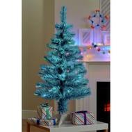 Argos Home 3ft Fibre Optic Christmas Tree - Blue