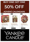 Buy One, Get One Half Price - Yankee Candle Advent Calendars