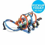 Hot Wheels Corkscrew Crash with Booster 3 Loops 3 Crash Zones Track Set