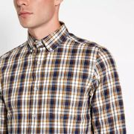 Men's Maine New England Mustard Checked Shirt - save £4.80