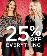 25% off Everything at Dorothy Perkins until 11/11/19