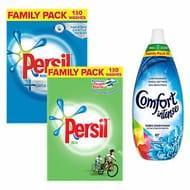 Persil Family Pack Washing Powder 130 Wash + Comfort Conditioner Fresh Sky