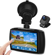 Z-Edge Car Dual Dash Cam, 4 Inch Full HD Touchscreen
