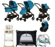 Hauck I'coo Acrobat XL Everything You Need Travel System Bundle - Sapphire Blue