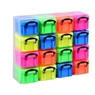 RUP 16 X 0.14L Box Organiser, Neon (Package 16 Each)
