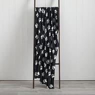 Soft Fleece 130cm X 170cm Throw - Pawprint, Spotted and Plain Designs.