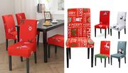 1, 4 or 6 Christmas Dining Chair Covers - 5 Designs