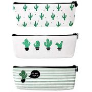 Set of 3 Cactus Pencil Cases/make up Pouches Only £2.04