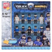Police Squad Block Tech - 10 Pack Play Figures.