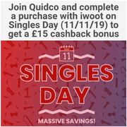 Join Quidco and Complete a Purchase with Iwoot TODAY to Get a £15 Cashback Bonus