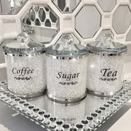 Lemonade Crystal Ice White Tea, Coffee and Sugar Set of 3