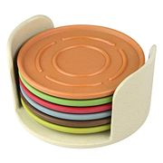 Cheap 6 Bamboo Coloured Coasters on Sale From £9.99 to £5.99