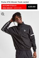 Puma XTG Woven Track Jacket Size XS, S, L