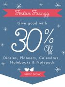 Ts a Frenzy 30% off Diaries, Planners & Calendars