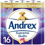 Andrex Supreme Quilts Toilet Roll - 16 Rolls