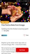 Free Festive Bake from Greggs