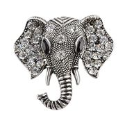 Crystal Elephant Brooches Vintage Brooch