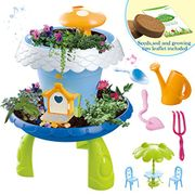 Fairy TaleMiniature Gardening Cottage Play Set and Gardening Accessories