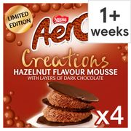 Nestle Aero Creations Hazelnut Flavoured Mousse 4X57g