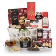 White Christmas Hamper - Festive Food Hamper Baskets