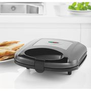 ASDA Black & Silver Sandwich Toaster with 2 Year Guarantee FREE C&C