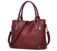 Zuionk Women Fashion Travel Zipper Solid Handbag Only £16.2