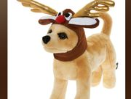 Dress Up Your Dog! Brown Reindeer Dog Hat