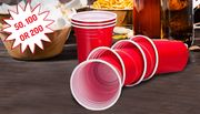 Red American-Style Party Cups - 50, 100, 200
