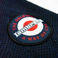 Lambretta Sherpa Lined Chunky F/Z Knit Jacket Navy