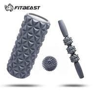 FitBeast Foam Roller Set 2 in 1 for Deep Tissue Muscle Massage