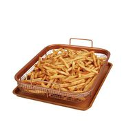 Copper Chef Copper Crisper Non-Stick Oven Baking Tray with Crisping Basket