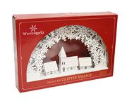 LED Light-up White Glitter Village Only £7.5