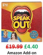 77% OFF - Hasbro SPEAK OUT Game (Amazon Add-on item)