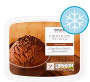 Tesco Soft Scoop Chocolate ICE CREAM *A HUGE 2 Litres and VEGETARIAN!