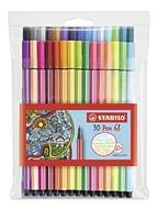 Premium Felt Tip Pen -Pen 68 Wallet of 30 Assorted Colours including 6 Neon
