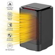 AUZKIN Mini Fan Heater, 950W PTC Ceramic Electric Heater,