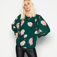 Vero Moda - Dark Green Floral Print Top