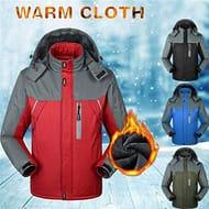 SummerRio- Unisex Winter Raincoat Casual Hooded Jacket Outdoor Hiking Camping